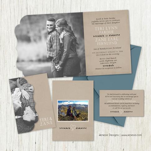 Boutique Tri-fold Invitation - Item# LF082