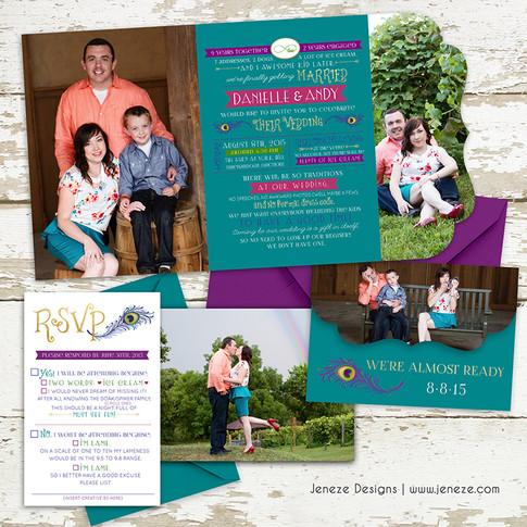 Boutique Tri-fold Invitation - Item# LF061