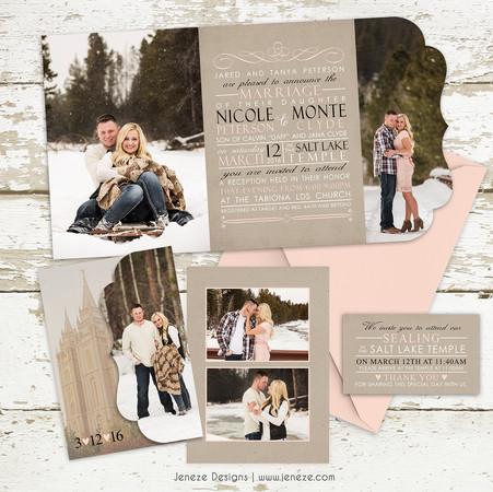 Boutique Tri-fold Invitation - Item# LF073