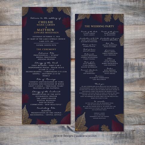 Wedding Program - Item# PG021