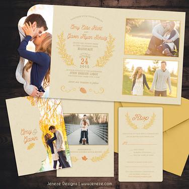 Boutique Tri-fold Invitation - Item# LF058