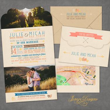 Boutique Tri-fold Invitation - Item# LF043