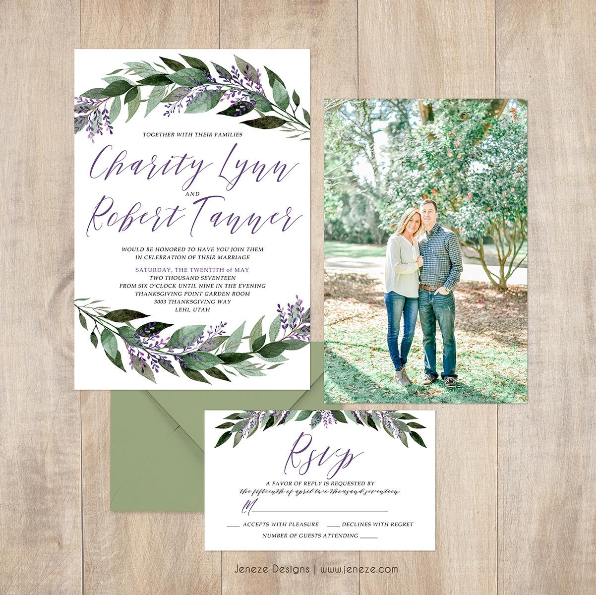 Invitation - Item#CA301 | Jeneze Designs Custom Wedding Invitations