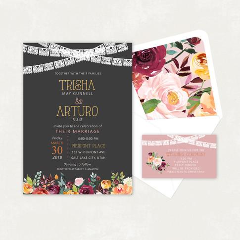 Wedding Invitation #WI349