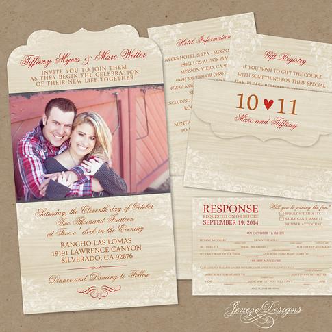 Boutique Tri-fold Invitation - Item# LF047