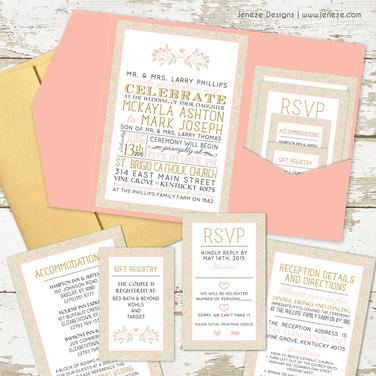 Pocket Invitation - Item# PI036
