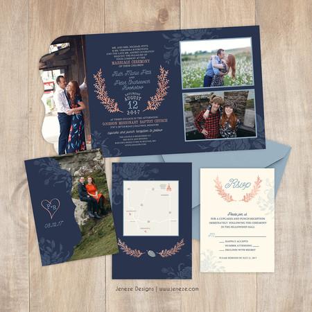 Boutique Tri-fold Invitation - Item# LF086