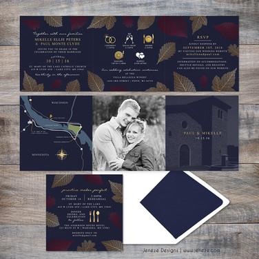 Square Tri-fold - Item# CA290