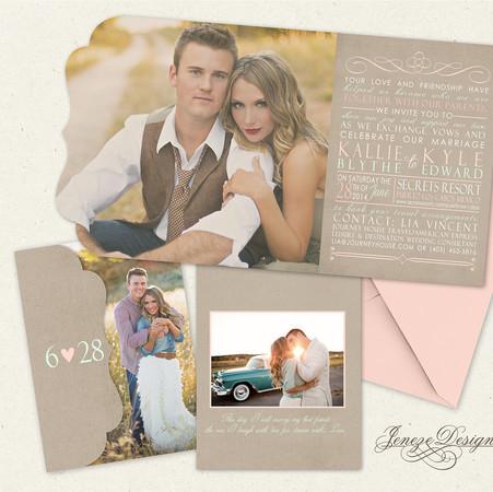 Boutique Tri-fold Invitation - Item# LF041