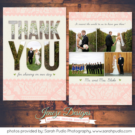 Thank you card - Item# TY027