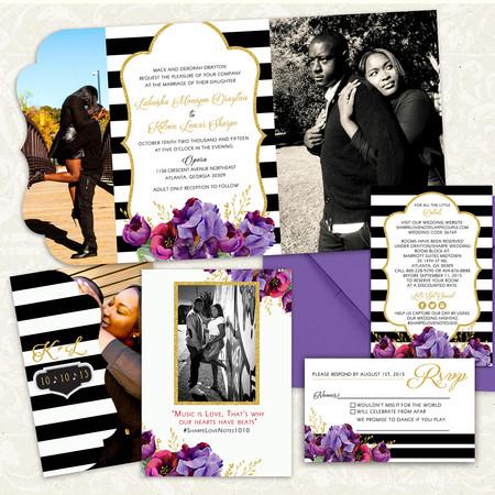Boutique Tri-fold Invitation - Item# LF068