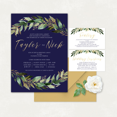 Wedding Invitation #WI326