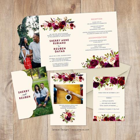 Boutique Tri-fold Invitation - Item# LF088
