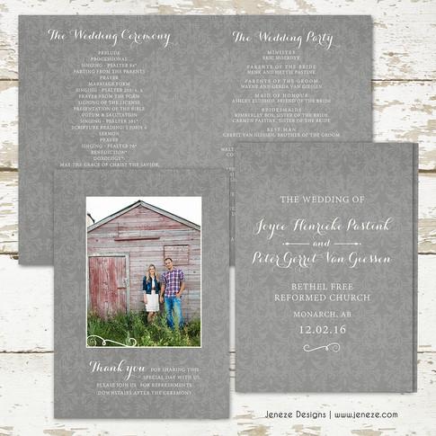 Wedding Program - Item# PG012