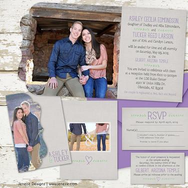 Boutique Tri-fold Invitation - Item# LF052