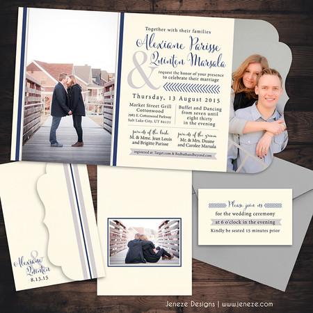 Boutique Tri-fold Invitation - Item# LF062