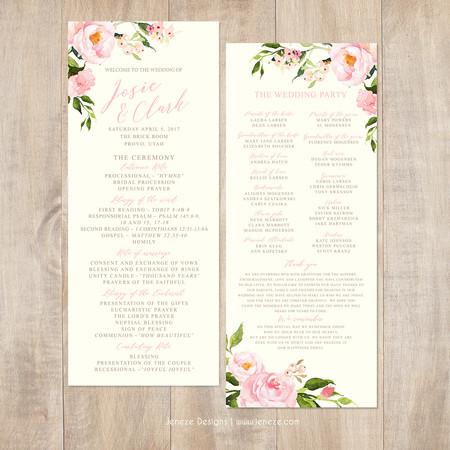 Wedding Program - Item# PG022