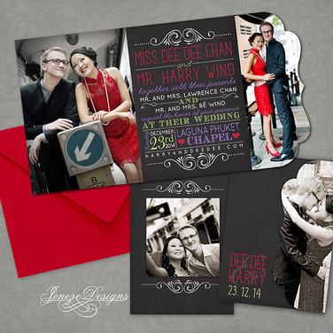Boutique Tri-fold Invitation - Item# LF048