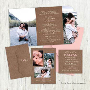 Boutique Tri-fold Invitation - Item# LF081