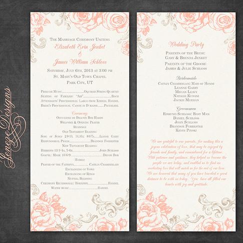 Wedding Program - Item# PG003