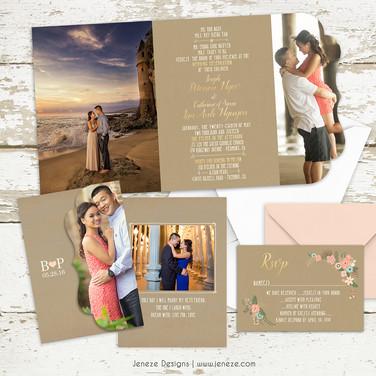 Boutique Tri-fold Invitation - Item# LF076