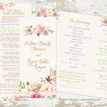 Wedding Program - Item# PG010