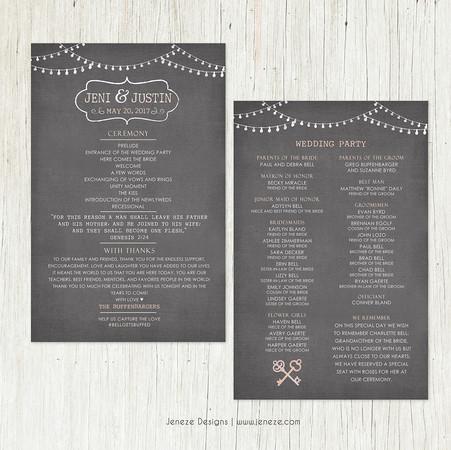 Wedding Program - Item# PG023