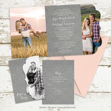 Boutique Tri-fold Invitation - Item# LF072