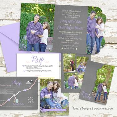 Boutique Tri-fold Invitation - Item# LF066