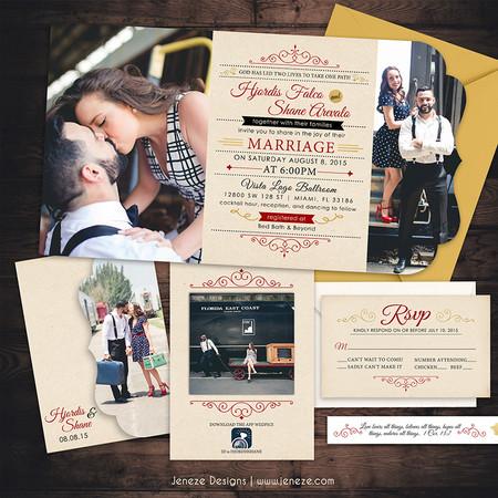 Boutique Tri-fold Invitation - Item# LF060