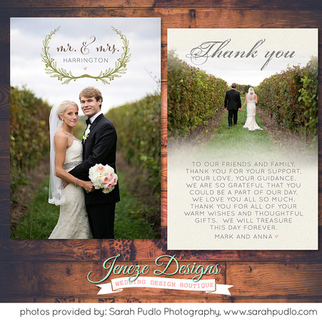 Thank you card - Item# TY035