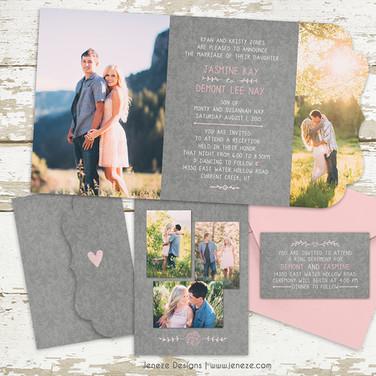 Boutique Tri-fold Invitation - Item# LF059