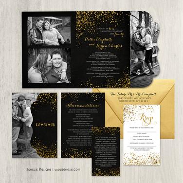 Boutique Tri-fold Invitation - Item# LF084