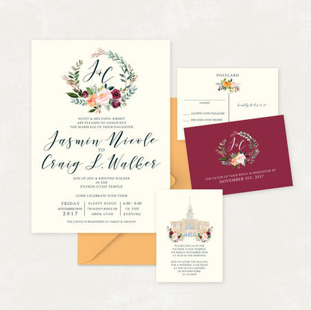 Wedding Invitation #WI340