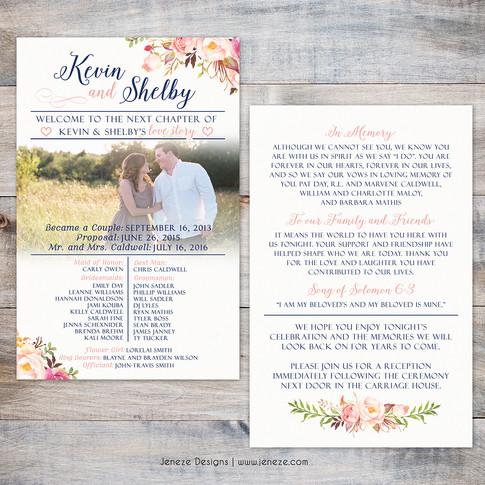 Wedding Program - Item# PG017