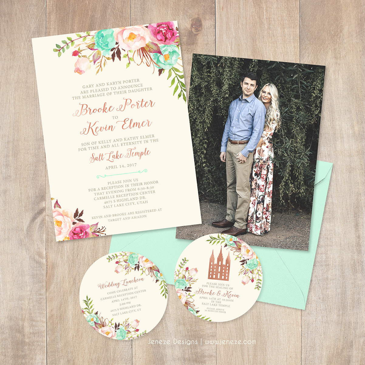 Jeneze Designs Custom Wedding Invitations | INVITATIONS
