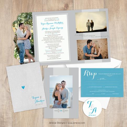 Boutique Tri-fold Invitation - Item# LF085