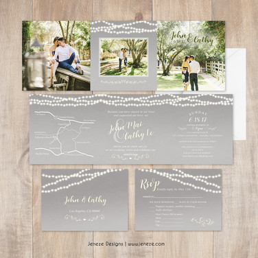 Square Tri-fold Invitation - Item # CA323