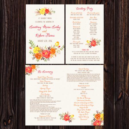 Wedding Program - Item# PG018