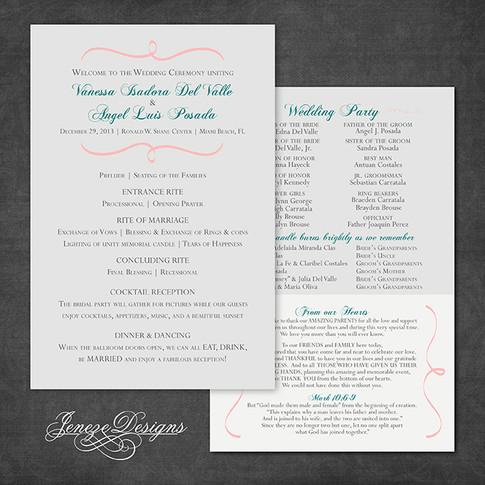 Wedding Program - Item# PG002