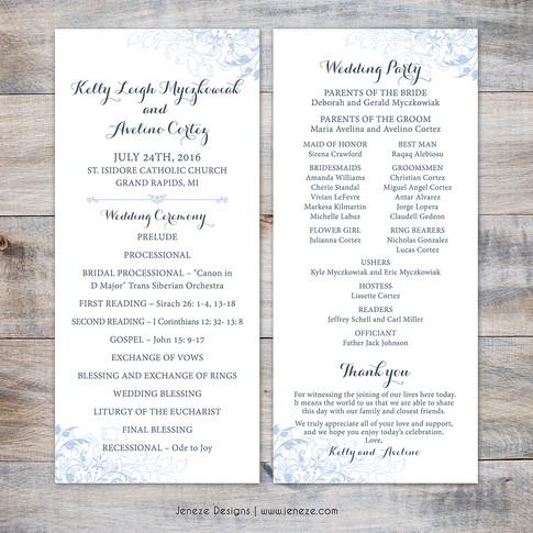 Wedding Program - Item# PG015