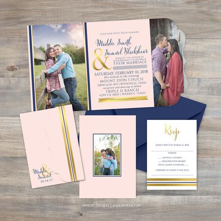 Boutique Tri-fold Invitation - Item# LF089