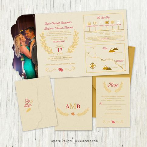Boutique Tri-fold Invitation - Item# LF083