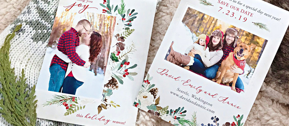 Holiday Save the Date Collection 2018