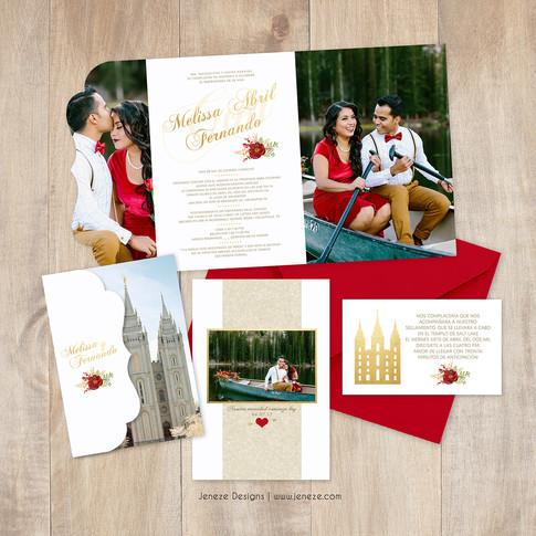 Boutique Tri-fold Invitation - Item# LF087