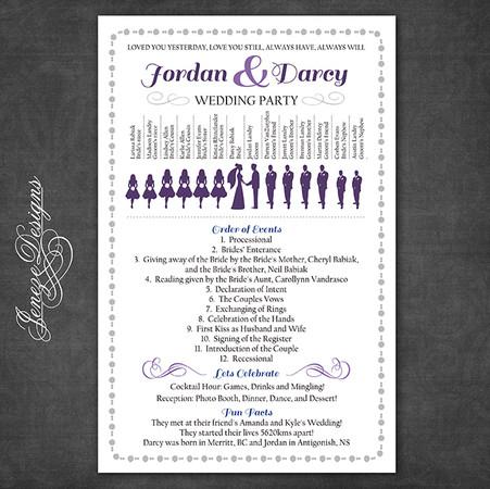 Wedding Program - Item# PG005