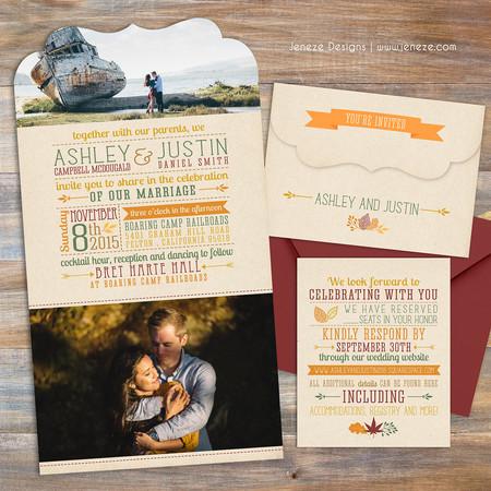 Boutique Tri-fold Invitation - Item# LF070