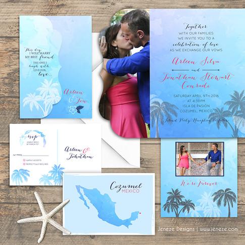 Boutique Tri-fold Invitation - Item# LF075