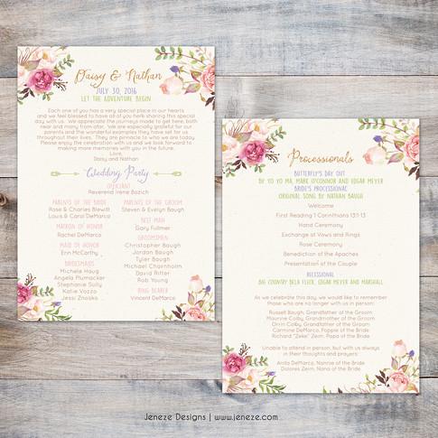 Wedding Program - Item# PG019