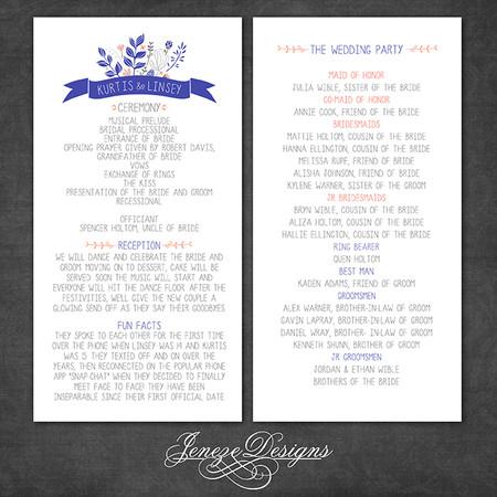 Wedding Program - Item# PG006